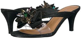 J. Renee Gredel (Black Glitter/Clear) Women's 1-2 inch heel Shoes