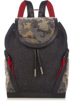 Christian Louboutin Explorafunk felt and spike-embellished backpack