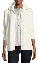 Lafayette 148 New York Zip-Front Cashmere Sweater, Plus Size