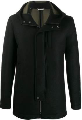 Manuel Ritz concealed hooded coat