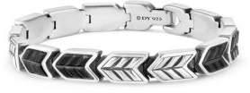 David Yurman Chevron Woven Bracelet with Black Onyx