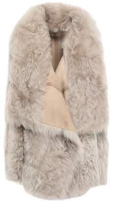 Yves Salomon Meteo By Reversible Leather-trimmed Shearling Vest