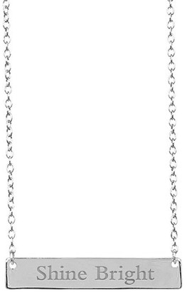 Sterling Forever Sterling Silver Bar Pendant Necklace - Shine Bright