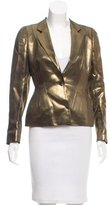 Dries Van Noten Metallic Structured Blazer