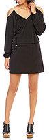 MICHAEL Michael Kors Matte Jersey Cold Shoulder Blouson Dress
