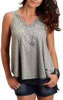 Stetson Embroidered Grey Tank