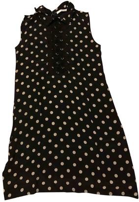 Madame à Paris Black Silk Dress for Women
