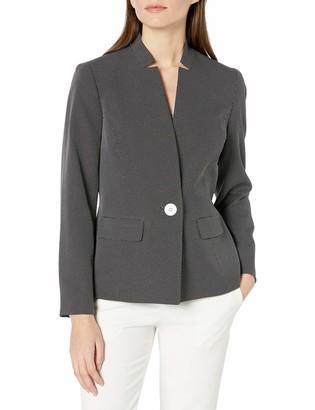 Kasper Women's Long Sleeve 1 Button PIN DOT Jacket