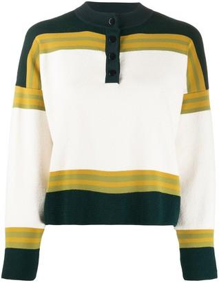 Roseanna Button Collar Knitted Top