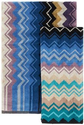 Missoni Set Of 2 Cotton Giacomo Towels