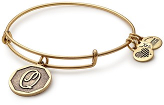Alex and Ani Initial 'Q' Adjustable Wire Bangle