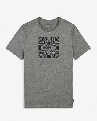 Express Gray Ripple Logo Graphic T-Shirt