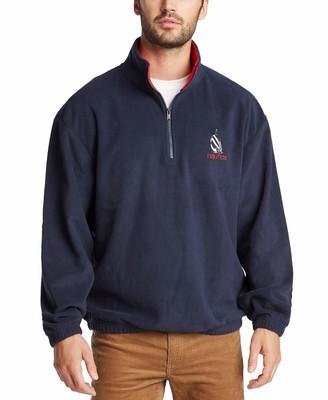 Nautica Men's Long Sleeve Polar Fleece Pullover