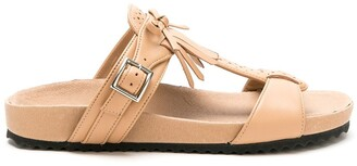 Sarah Chofakian leather Oregon flat sandals