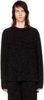 Baja East Black Rib Cashmere Fisherman Sweater