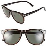 Tom Ford Women's 'Franklin' 55Mm Sunglasses - Black/ Havana/ Grey Green
