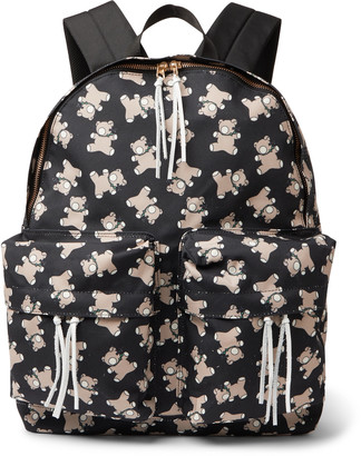Undercover Screwbear Printed Canvas Backpack