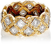 Mahnaz Collection Vintage Women's White Diamond-Embellished Band