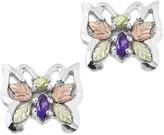 Black Hills Butterfly Gemstone Earrings, Sterling/12K Gold