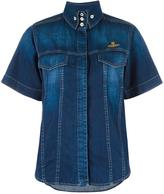 Vivienne Westwood shortsleeved denim shirt - women - Cotton - M
