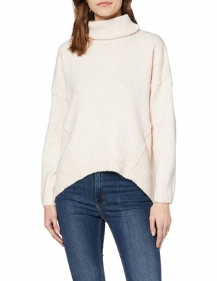 New Look Women's Op Roll Neck Reverse Jumper Sweater