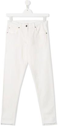 Stella Mccartney Kids Raw Hem Slim-Fit Jeans