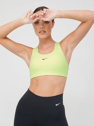 Nike Medium Support Padded Swoosh Sports Bra - Volt