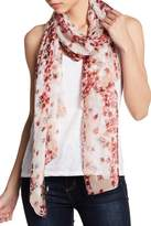 BCBGeneration Watercolor Floral Silk Wrap