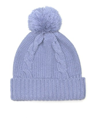 Lovarzi Ladies Bobble Hats Pale Blue - Ladies Pom Pom Hat - Womens Bobble Hats for Winter - Hats for Teenage Girls