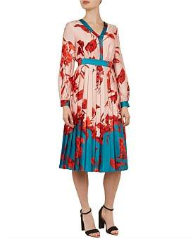 Ted Baker Karolyn Fantasia Bow Midi Dress
