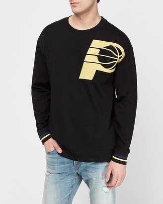 Express Indiana Pacers Nba Long Sleeve Heavyweight T-Shirt