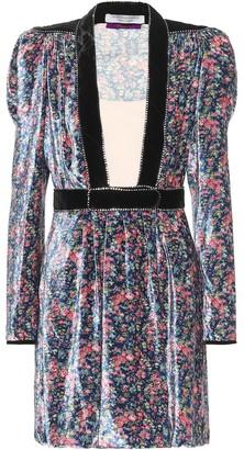 Philosophy di Lorenzo Serafini Floral velvet minidress