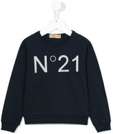 No21 Kids - logo print sweatshirt - kids - Cotton/Spandex/Elastane - 4 yrs