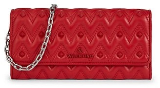 Valentino By Mario Valentino Cesare Leather Chain Wallet