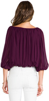 Alice + Olivia Braiden Boxy Gathered Top