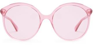 Gucci Cat-eye Round Acetate Sunglasses - Pink
