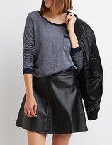 Charlotte Russe Ringer Pocket Sweatshirt