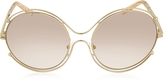 Chloé ISIDORA CE 122S Oval Oversized Metal Women's Sunglasses