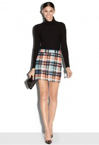 Milly Italian Pied De Poule Modern Mini Skirt
