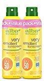 Alba Very Emollient SPF 50 Active Kids Clear Spray, 2 Count