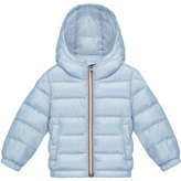 Moncler Dominic Hooded Lightweight Down Puffer Coat, Light Blue, Size 12M-3