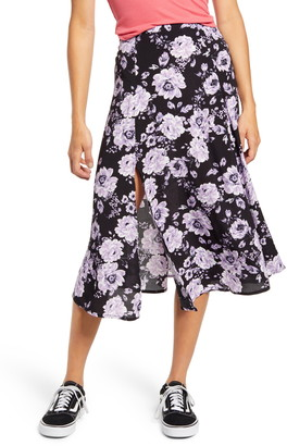 Socialite High Slit Midi Skirt