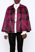Anna Sui Chenille Houndstooth Poncho