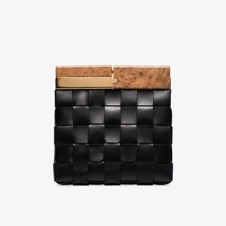 Bottega Veneta Black Snap leather clutch bag