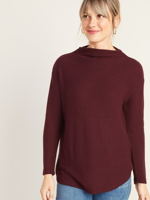 Old Navy Textured Plush-Knit Funnel-Neck Sweater for Women