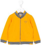 Armani Junior zipped jacket - kids - Cotton/Spandex/Elastane - 18 mth