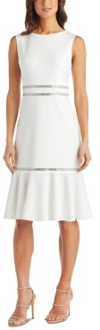 R & M Richards Petite Embellished Fit & Flare Dress
