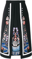 Temperley London Parchment layer skirt