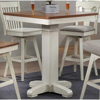 Gracie Oaks Choices Adjustable Pub Table Gracie Oaks Color: Antique White