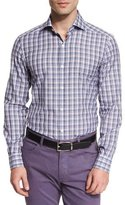 Ermenegildo Zegna Plaid Long-Sleeve Sport Shirt, Purple